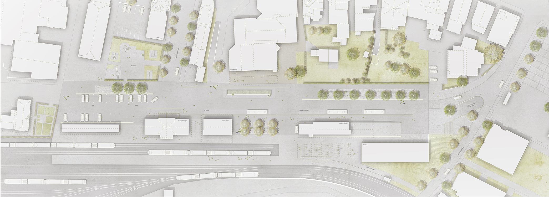 Ideenstudie Entwicklung Bahnhofplatz Meiringen, 2016