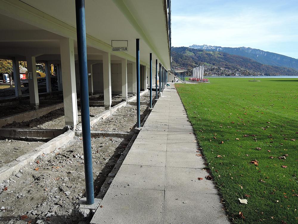 Start Bauarbeiten Gesamtsanierung Strandbad Thun