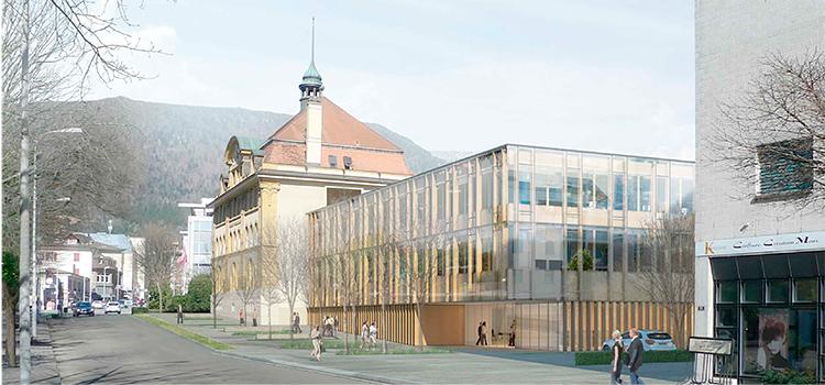 2. Rang / 2. Preis Architekturwettbewerb Verwaltungsgebäude Grenchen, 2015