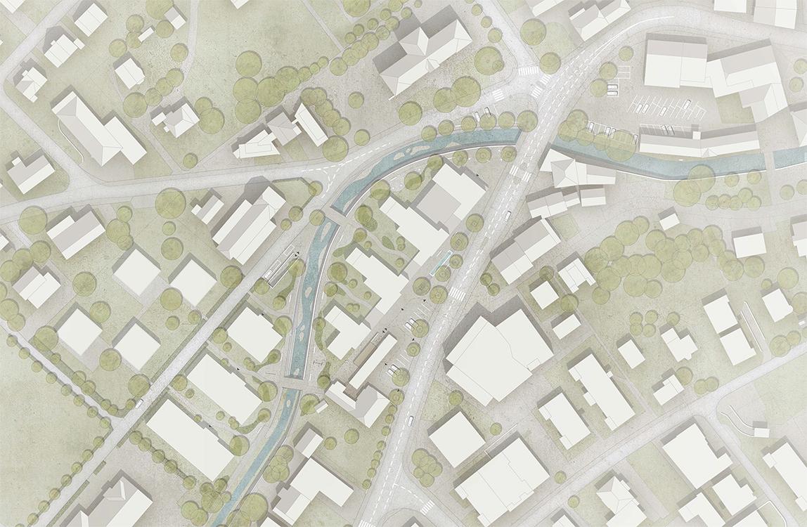 Beauftragung für Parzelle A,  selektiver Studienauftrag Sagi- Areal Balsthal mit Flury und Rudolf Architekten