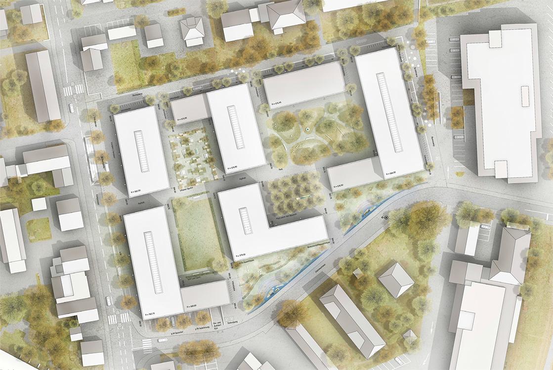 1. Rang  / 1.Preis Urbanes Wohnen im Liebefeld, Köniz, Studienauftrag auf Einladung mit Aebi & Vincent Architekten