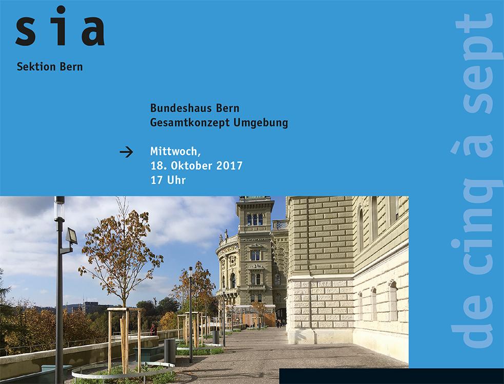 Bundeshaus Bern, Gesamtkonzept Umgebung, Führung SIA 5 à 7