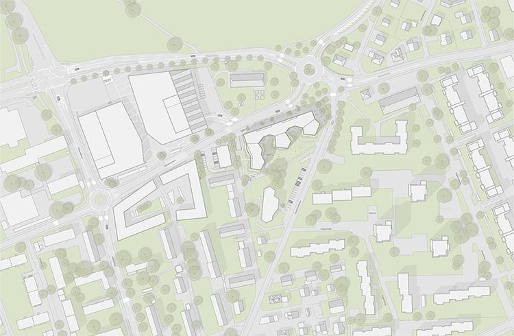 1. Rang / 1. Preis Ideenstudie im Einladungsverfahren, Arealüberbauung Talackerstrasse-Buchholzstrasse mit camponovo baumgartner Architekten