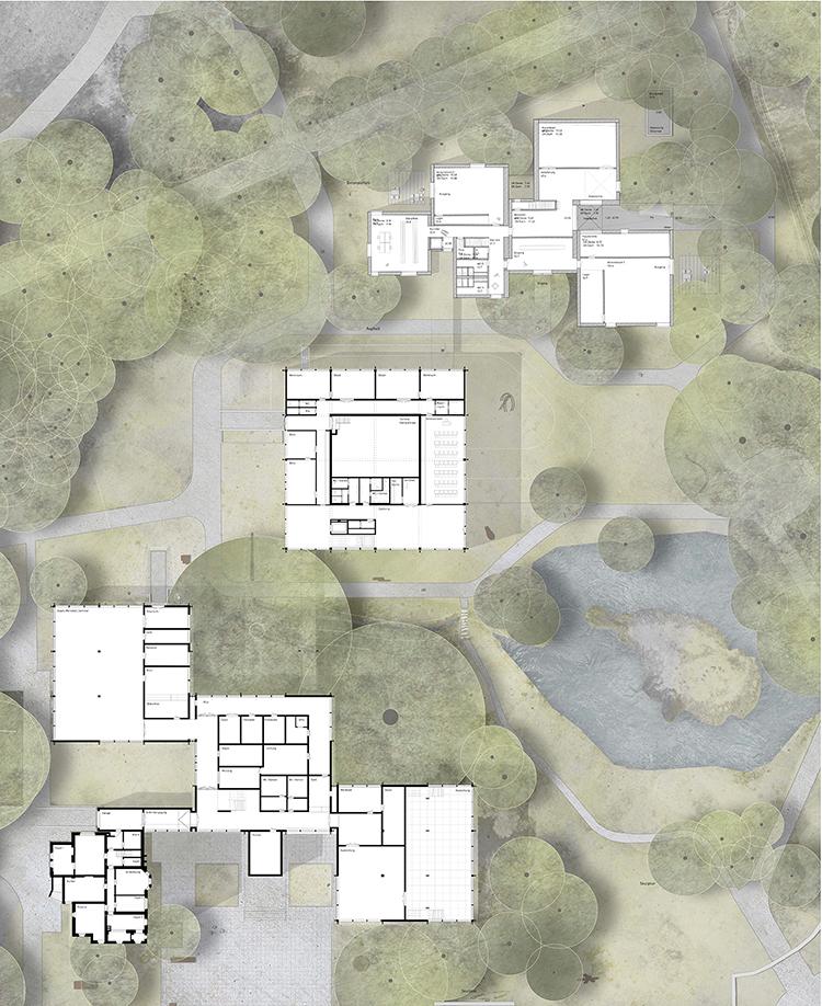 Anerkennung, Wettbewerb Erweiterung Josef Albers Museum Quadrat in Bottrop, Deutschland mit LEISMANN AG