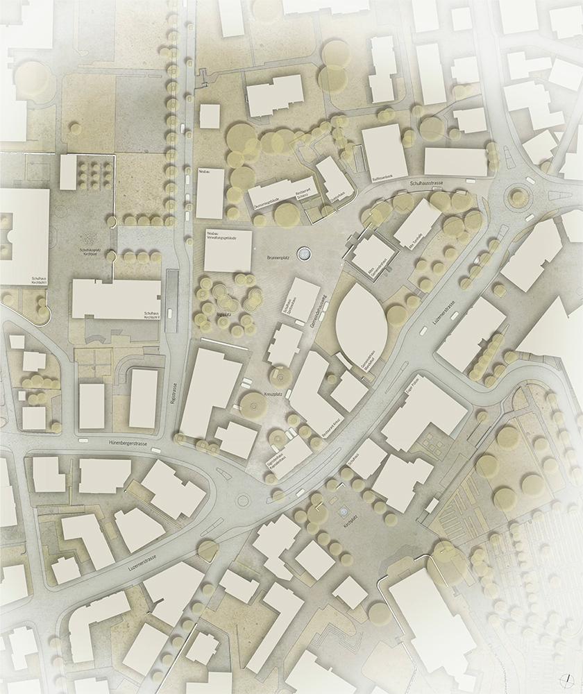 Umgestaltung Rigiplatz, Cham, 2014