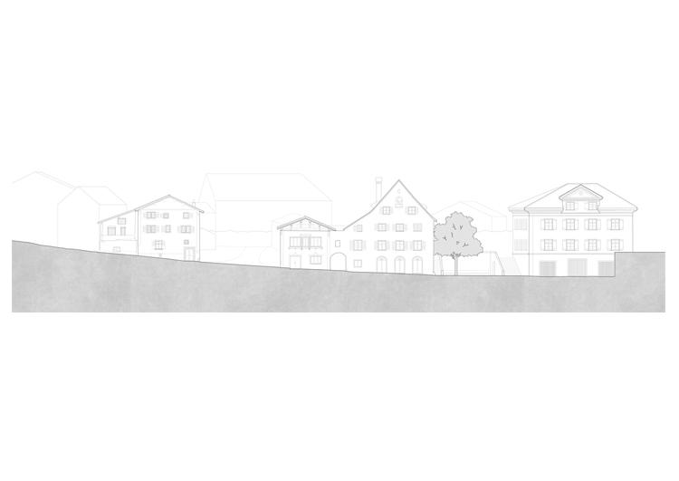 1. Rang / 1. Preis Neugestaltung Dorfkern, Malans, 2019