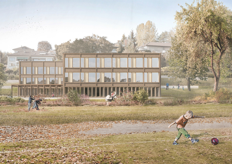 1. Rang / 1. Preis Sanierung, Umnutzung Wysslochgut; 3.Rang / 3. Preis Neubau Volksschule und Stadtteilpark Wyssloch, Bern, 2019
