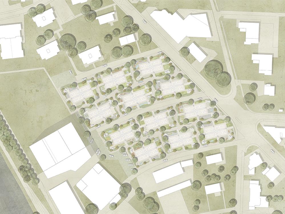 Siegerprojekt, Siedlung Kleegärten in Visp,2016