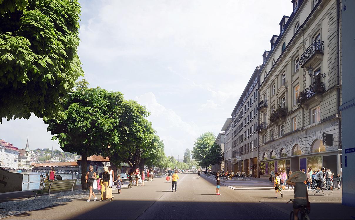 5. Rang / 5. Preis Neugestaltung Bahnhofstrasse und Theaterplatz, Luzern, 2016