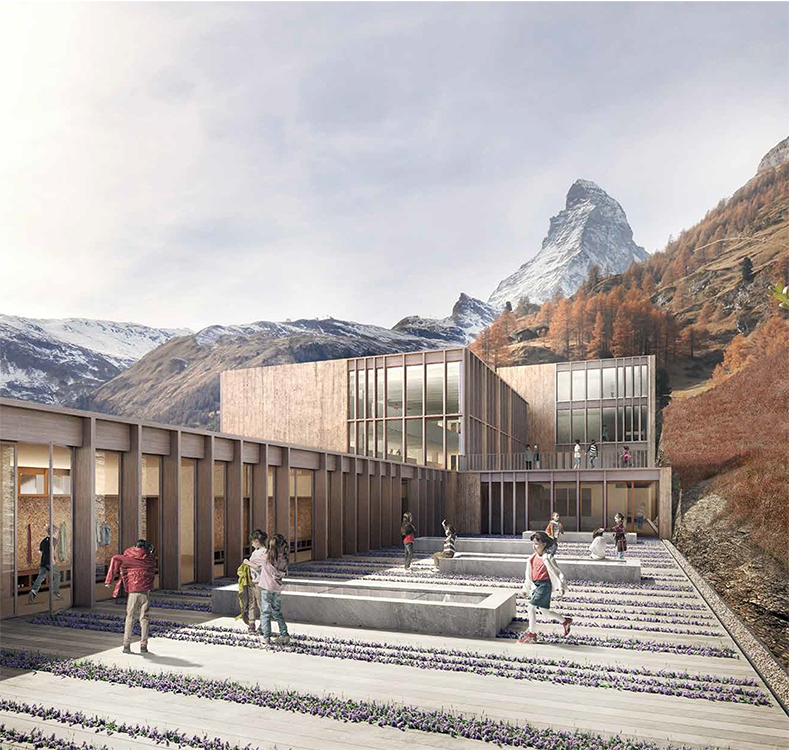 1. Rang / 1. Preis Schulanlage Walka, Zermatt, 2016