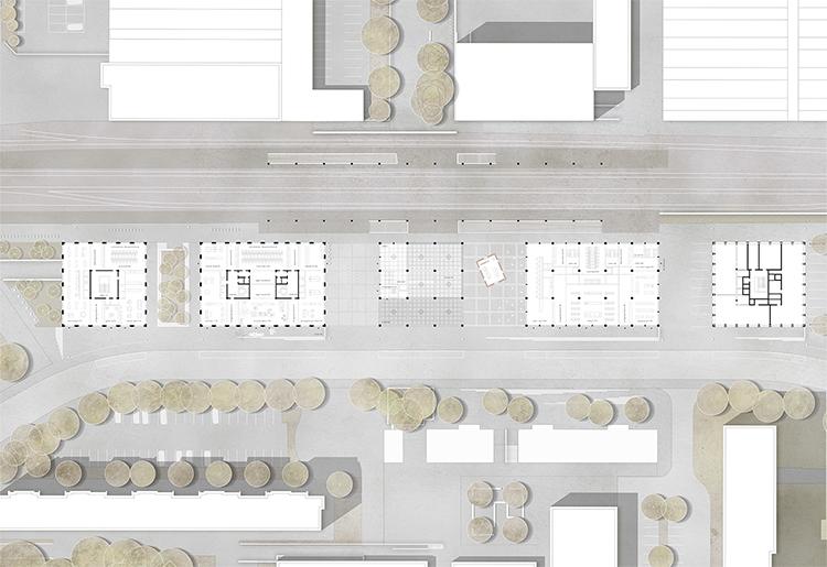 2. Rang  / 2.Preis Projektwettbewerb 'Bern Bümpliz Nord' mit Rolf Mühlethaler Architekt, Bern