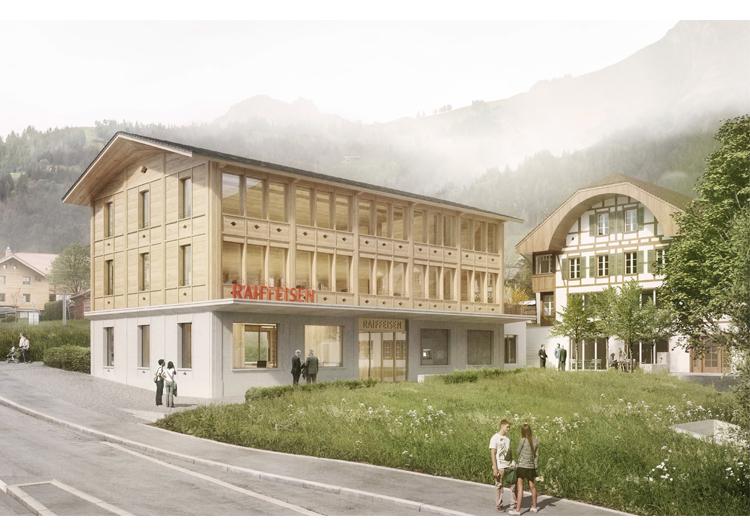 1. Rang / 1. Preis Um-/Neubau Hauptsitz Frutigen, Raiffeisenbank Frutigland