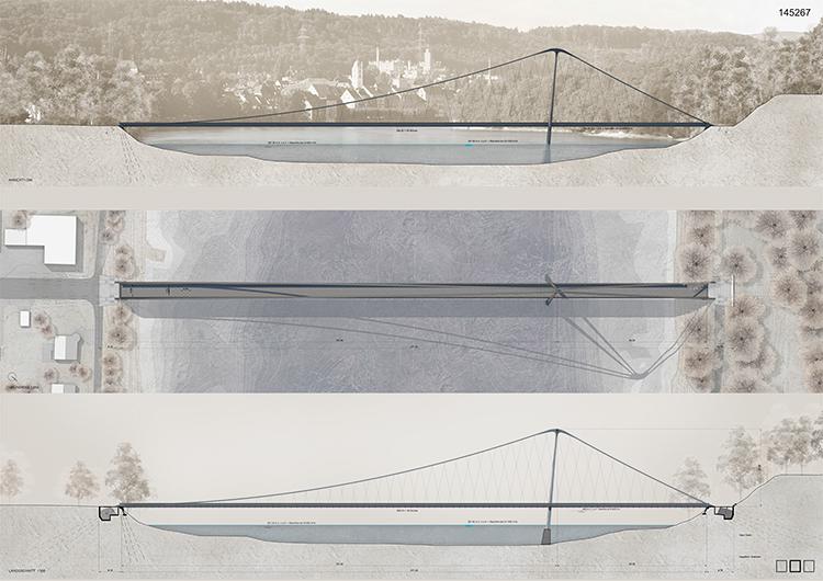 Ankauf Projektwettbewerb mit Präqualifikation Rheinsteg Rheinfelden, 2015