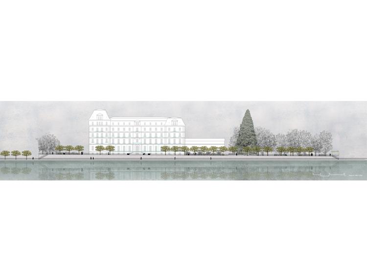1. Rang / 1. Preis Studienauftrag Thunerhof Parkgestaltung, Thun, 2020