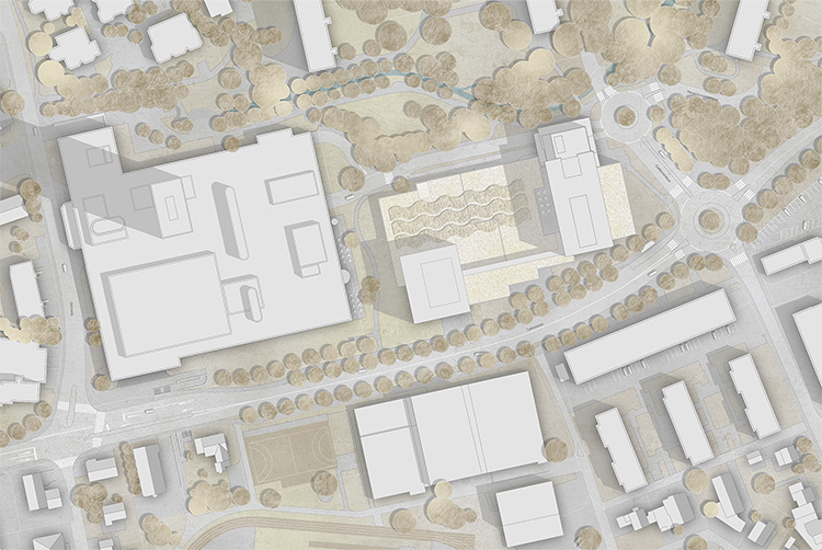 3. Rang / 3. Preis Projektwettbewerb Neubau Polizeigebäude Aarau mit Metron Architektur AG