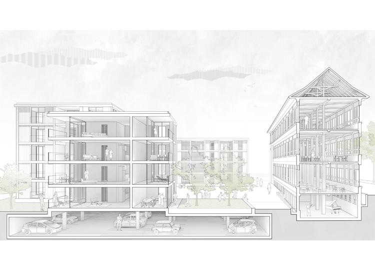 4. Rang / 4. Preis Entwicklung Bernstrasse 11, Thun