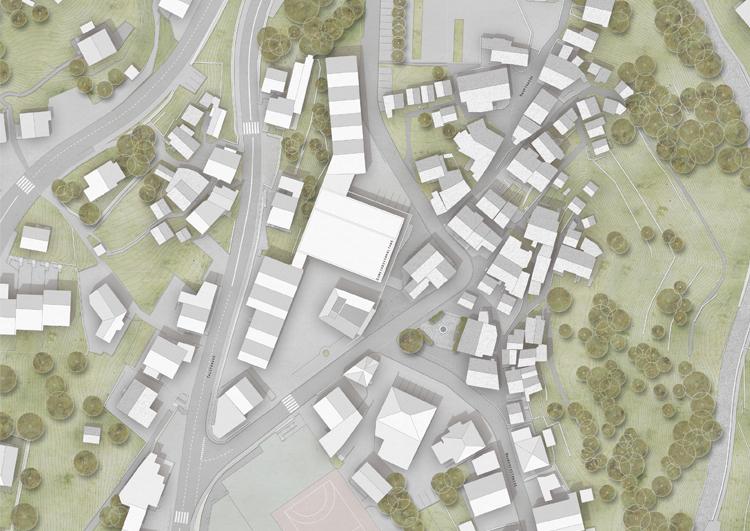 1. Rang / 1.Preis Projektwettbewerb im Einladungsverfahren, Dorfplatzgestaltung Märtplatz, Stalden