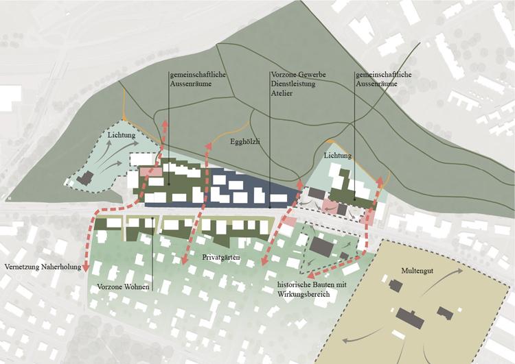 Zentrumsentwicklung Muri / Gebiet Thunstrasse 'Fünf Egg' Testplanung