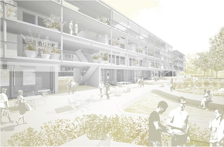 3. Rang  / 3.Preis Öffentlicher Projektwettbewerb mit PQ, Wohnsiedlung Mutachstrasse und Stadtteilpark Holligen Nord, Bern