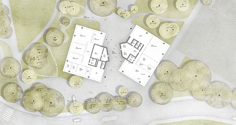 1. Rang / 1. Preis offener Wettbewerb Erweiterung Volksschule Marzili, Bern, 2015