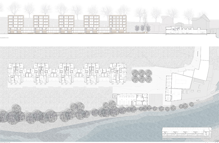 1. Rang / 1. Preis  Wohnüberbauung Areal Hammerwerke, Worblaufen, 2015