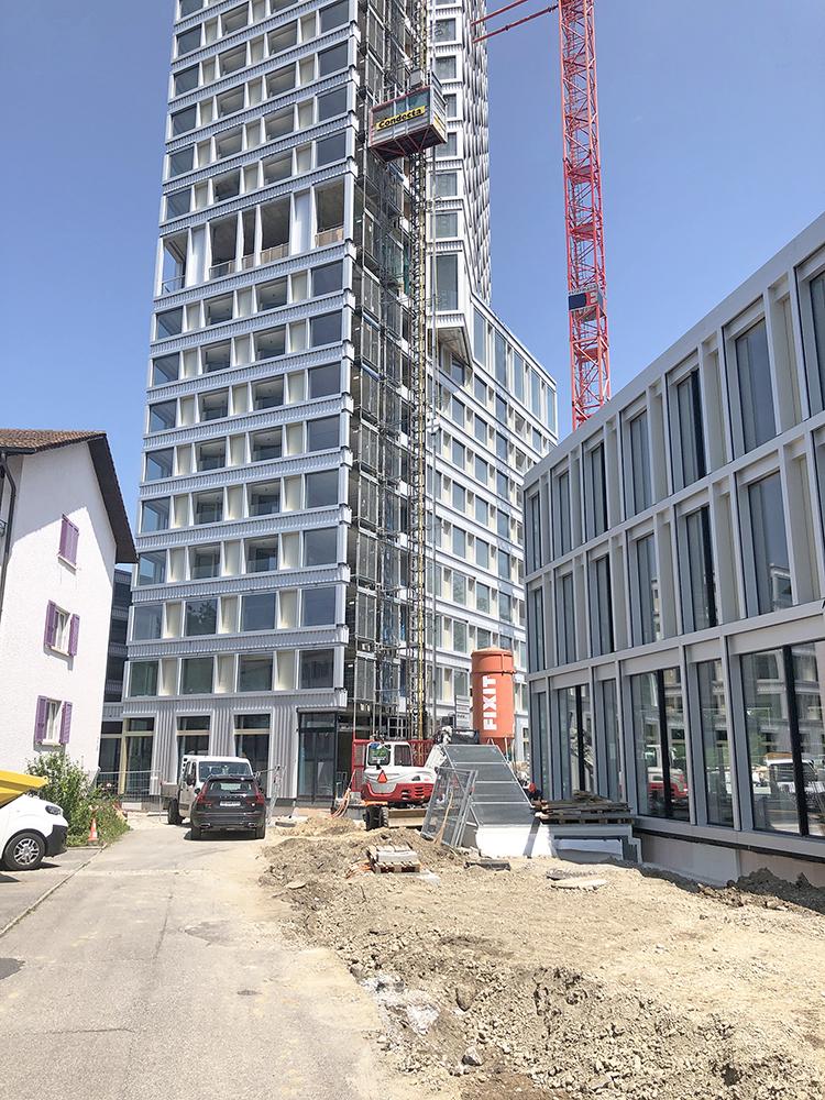 Baustart Umgebungsarbeiten Zentrum Bären Ostermundigen